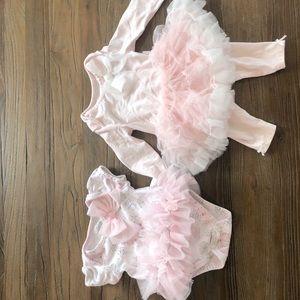 2 First Impressions 0-3 mo tutu outfits
